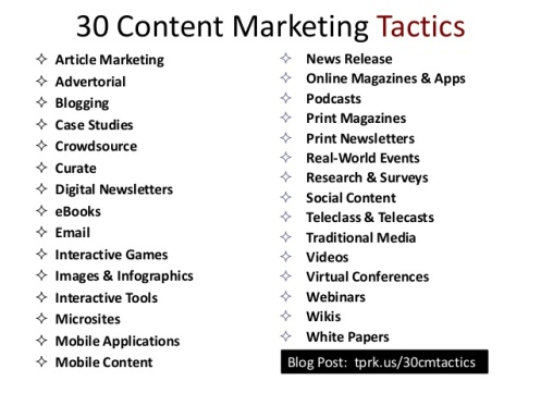 Ebriks-Some Important content marketing tactics